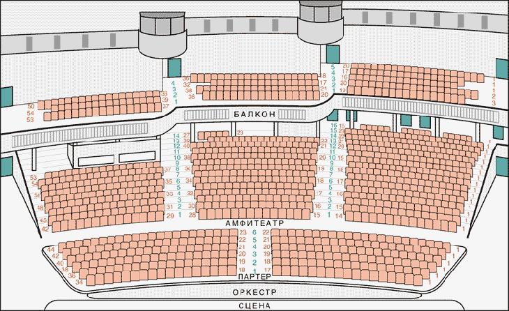 театр имени Н. И. Сац схема зала